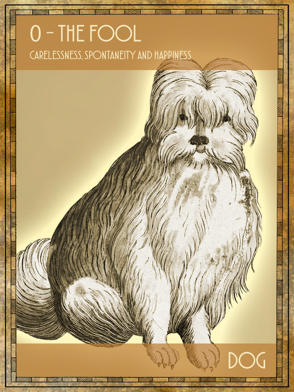 Animal Tarot Card:  Dog