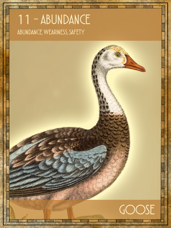 Animal Tarot Card:  Goose
