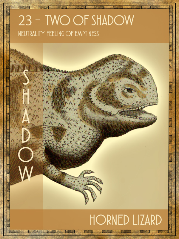 Animal Tarot Card:  Horned lizard