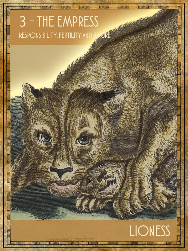 Animal Tarot Lioness