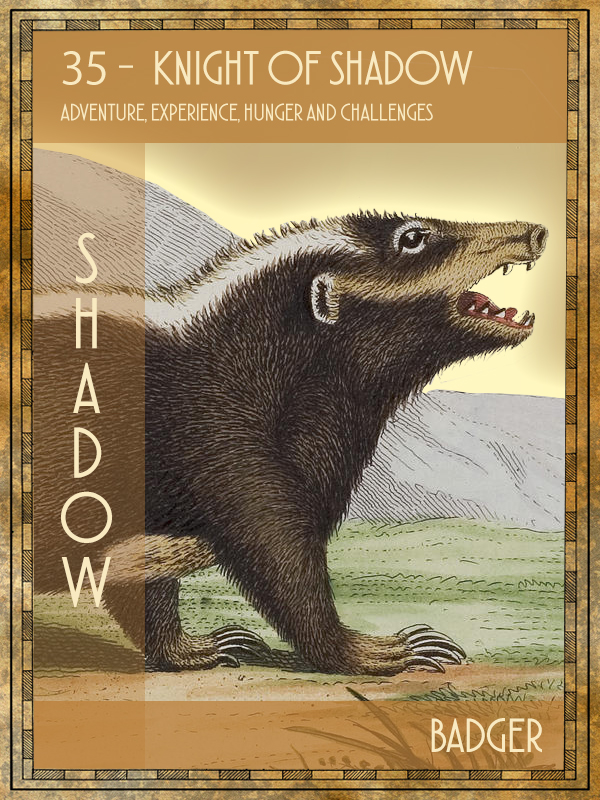Animal Tarot Card:  Badger