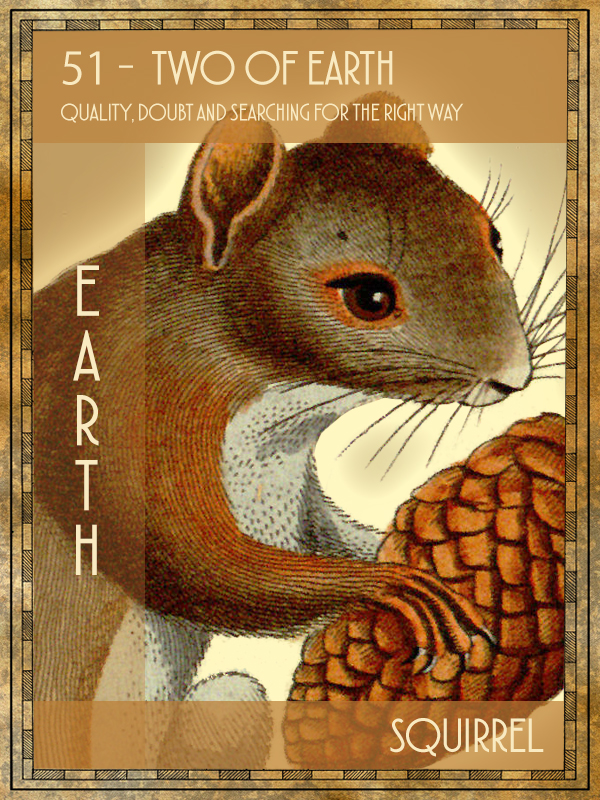 Animal Tarot Squirrel